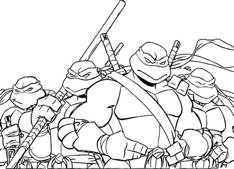hero turtles coloring pages