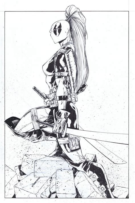 lady deadpool coloring pages lady deadpool chicago print by adelsocorona on deviantart