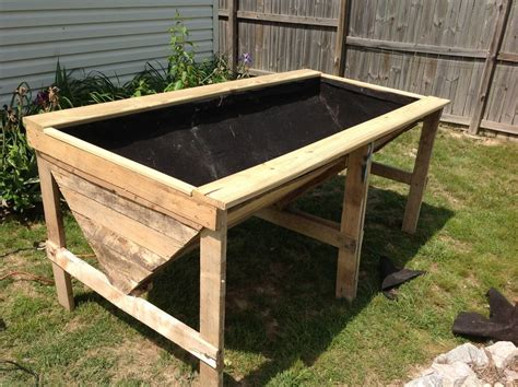 raised garden planter raised planter bed from pallets