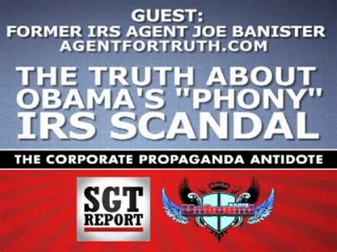 joe banister irs the truth about obama s phony irs scandal irs agent joe banister youtube