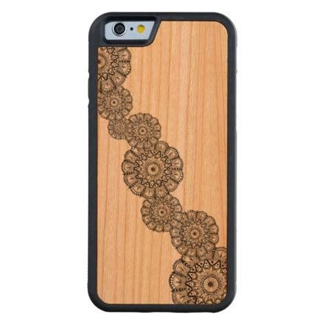 Iphone 5 5s Wooden Bumper mandala wooden iphone 5s carved 174 cherry iphone 6