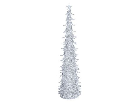 silver sparkling mesh beaded cone tree 301 moved permanently
