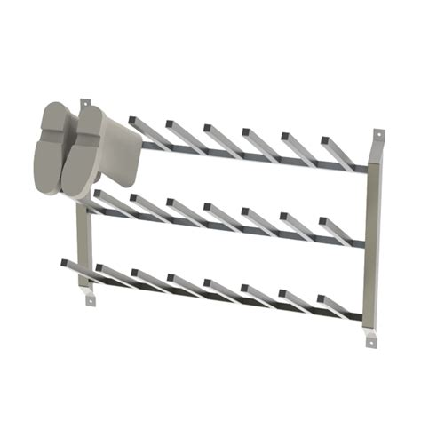 Wall Boot Rack stainless steel wall mounted boot racks cm process solutions