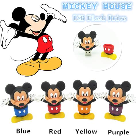 Flashdisk Tangan Mickey Mouse 32gb usb flash drive classic mickey mouse 4gb 8gb 16gb 32gb pen drive flash cards u disk
