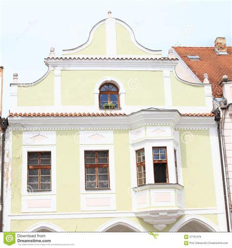 renaissance house renaissance house in trebon stock photo image 57791279