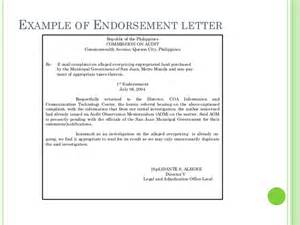 Scholarship Endorsement Letter Endorsement Letter Format Letter Format 2017