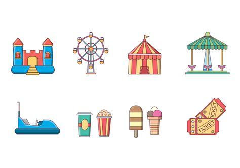 theme park vector free amusement park vector download free vector art