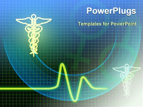 powerpoint presentation templates for hospitals medical symbol with heart beat line powerpoint template