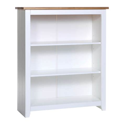 White Bookshelf Columbo White Low Bookcase