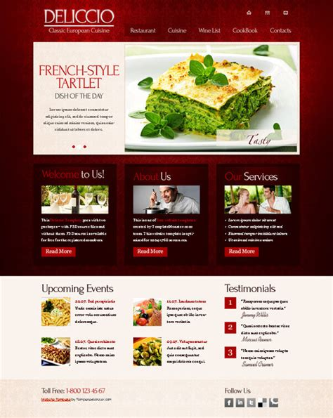 css layout restaurant 50 beautiful yet free html5 and css3 templates