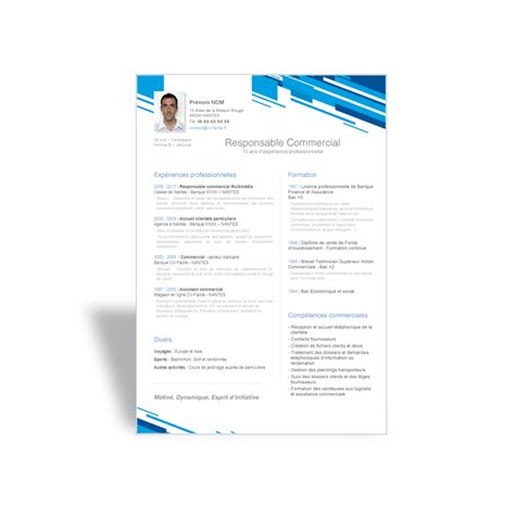Modele Cv Commercial Word by Exemple De Cv Moderne 224 T 233 L 233 Charger Au Format Word