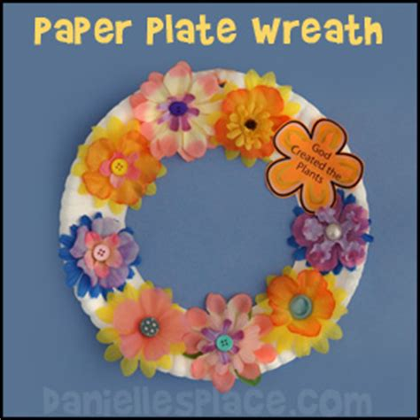 Paper Plate Bible Crafts - creation crafts day 3