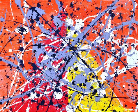 no need for a splash of paint jackson pollock s tiny old new york splatter paintings pollock style