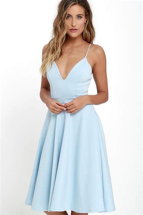 Light Blue Dress by Lovely Light Blue Dress Midi Dress Skater Dress 54 00