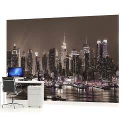 wall mural photo wallpaper picture 1311pp new york city new york skyline wall mural decal 4 panel contemporary