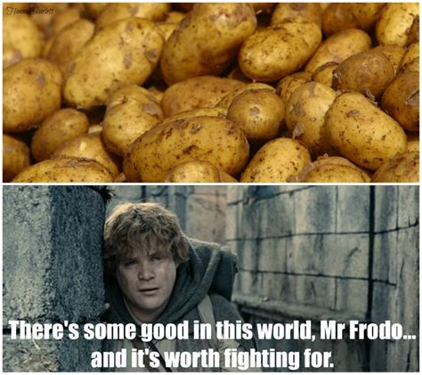 Potatoes Meme - lotr potato meme geek out d pinterest lotr potato