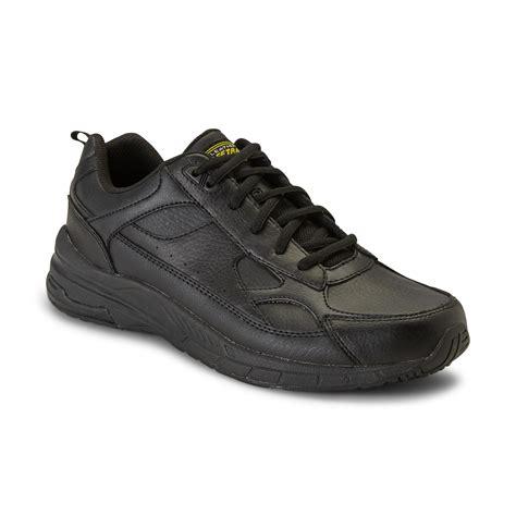 athletic work shoes safetrax s kameron 3 black leather athletic work shoe