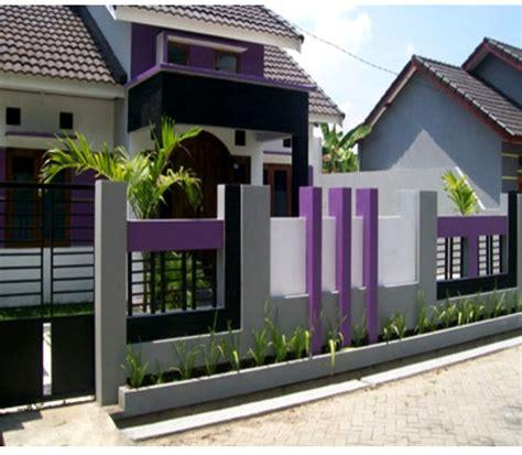 warna cat tembok pagar luar rumah minimalis terbaru