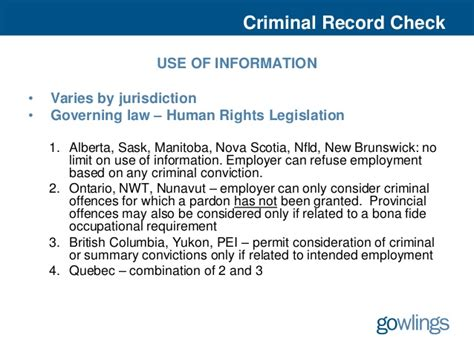 Can You Go To Canada With A Criminal Record Background Checks 2012