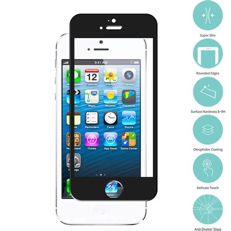 apple iphone    black tempered glass film screen