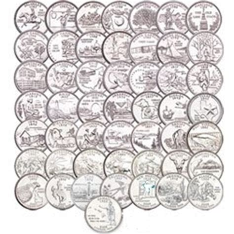 printable quarter collector 1999 2009 complete state quarters set statehood quarter