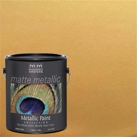 Metallic Gold Interior Paint by Modern Masters 1 Gal Gold Metallic Interior Paint Mm658gal The Home Depot