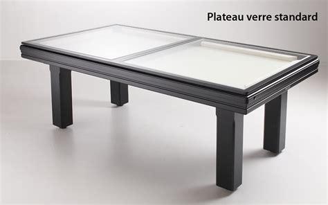 plateau verre meubles pour salle de billard billard toulet