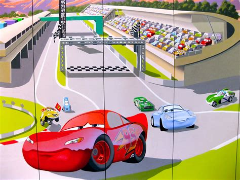 race track wall mural pixar s cars mural for quot baby spice quot