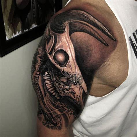 dwayne johnson bull tattoo the rock s bull skull tattoo upgrade