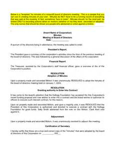 board of directors meeting minutes template best photos of board meeting minutes sle sle board