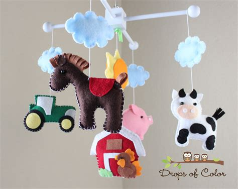 Farm Mobile Baby Crib Mobile Baby Mobile Handmade Nursery Mobiles For Baby Cribs