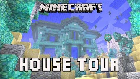 Cottage Blueprints Minecraft Awesome Underwater House Tour Coral House Part