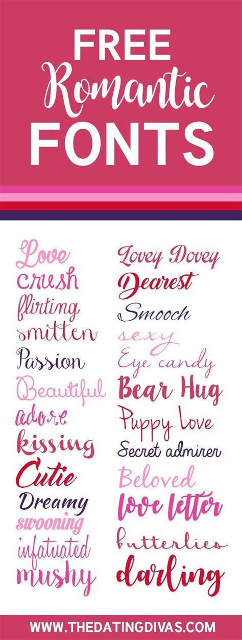 font design romantic the ultimate list of free love fonts romantic fonts