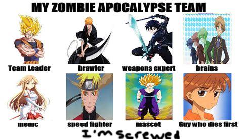 anime list zombie anime zombie apocalypse team meme by mrmarlin d71p by