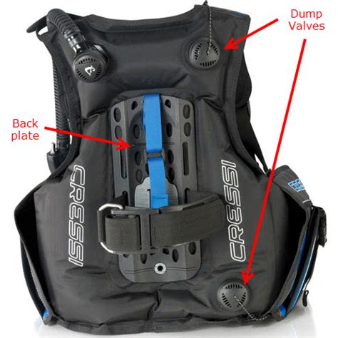 dive bc bc scuba names and parts of a buoyancy compenstor
