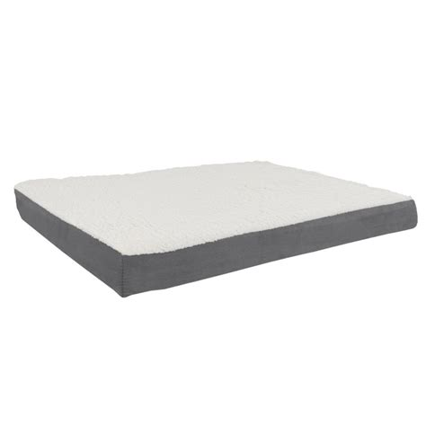 futon kaufen petmaker large gray orthopedic sherpa pet bed m320150