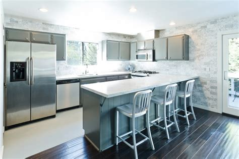 grey modern kitchen design modern grey and white kitchen modern kitchen los angeles by kcs design