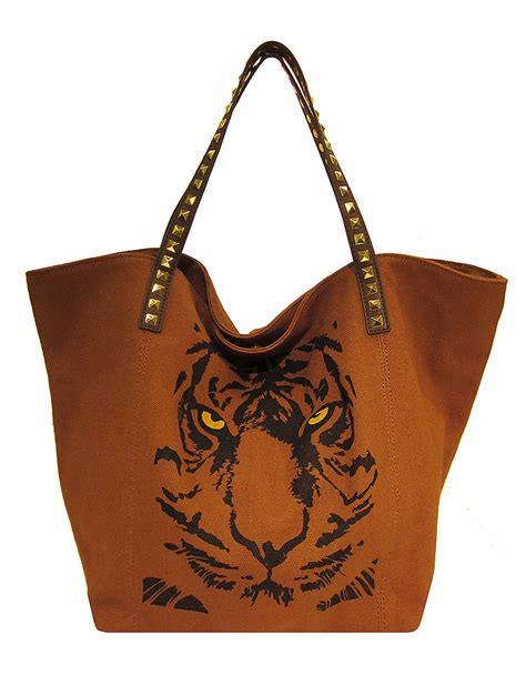 Steve Madden Tote Bags For by Steve Madden Tigers Canvas Jacquard Tote Bag In Brown Cocoa Lyst