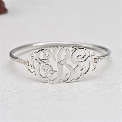 slip on bangle monogram bracelet