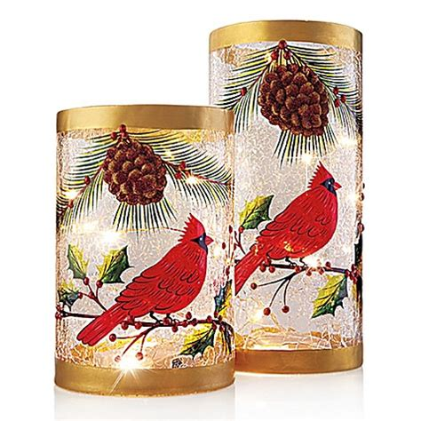 bed bath and beyond christmas lights buy home essentials painted holiday hurricanes with led
