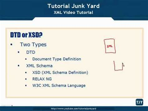 tutorial about xml xml tutorial 22 dtd or xsd schema youtube