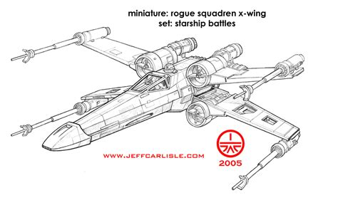 coloring page x wing star wars miniatures starship battles rogue squadren x