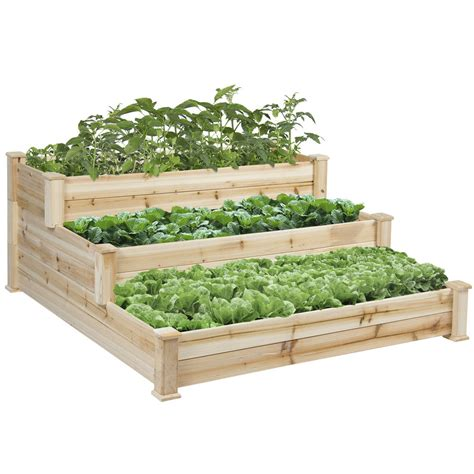 Bcp Raised Vegetable Garden Bed 3 Tier Elevated Planter Raised Bed Planter