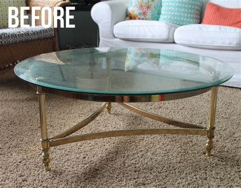 Coffee Table Makeover The Craft Patch Brass Coffee Table Makeover