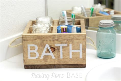 homebase decorative balls wood caddy with rope handles for the bathroom making