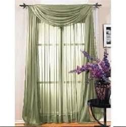 Lime Green Window Valance Sheer Scarf Window Treatments Curtains Drape Valances 63