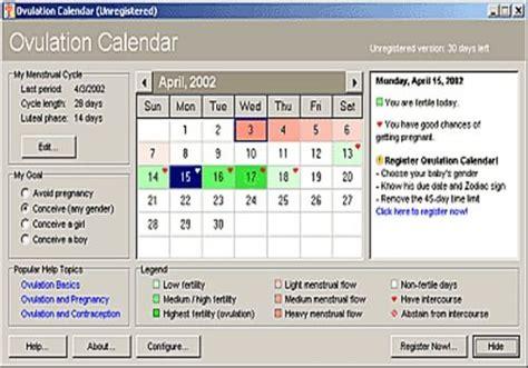 Calendrier Ovulation Gratuit T 233 L 233 Charger Ovulation Calendar Pour Windows Shareware