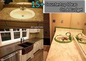 kitchen countertop ideas on a budget 10 countertop ideas on a budget