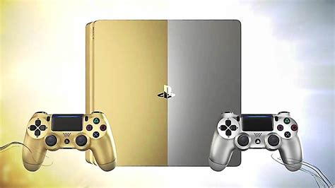 ps4 new console new ps4 consoles gold and silver unboxing
