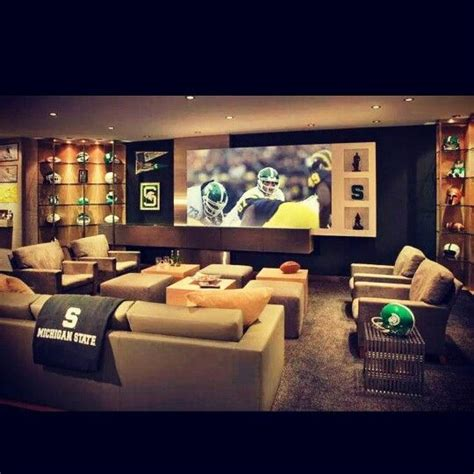 of michigan rooms awesome basement michigan state spartans air and finished basements
